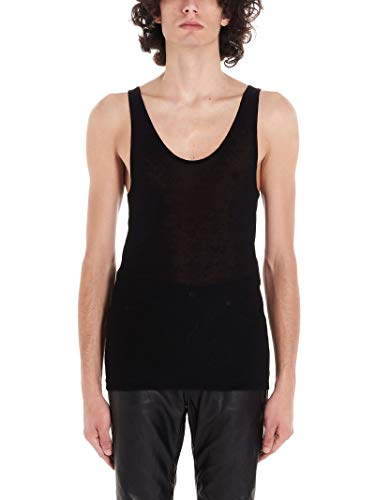 Luxury Fashion | Saint Laurent Heren 507951YB2OZ1000 Zwart Katoen Tanktops | Lente-zomer 20
