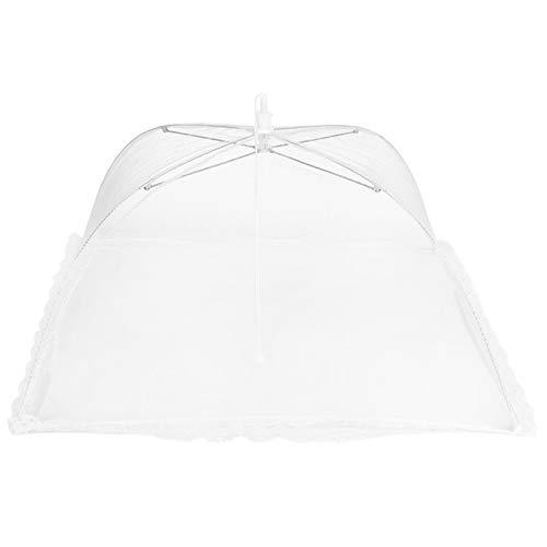 Cubierta de placa plegable para el hogar, paraguas para alimentos, malla lavable, cubierta para alimentos, tienda antimoscas, utensilios de cocina