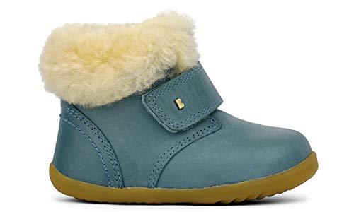 Bobux Step Up Desert Arctic Lamb Shearling + Merino Fleece Lining Boot – Premiers pas – Une chaussure en cuir de semelle souple - - Ardoise, 20 EU EU