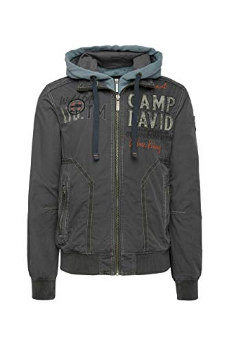 Camp David Herren Blouson mit Kapuzen-Einsatz und Artworks
