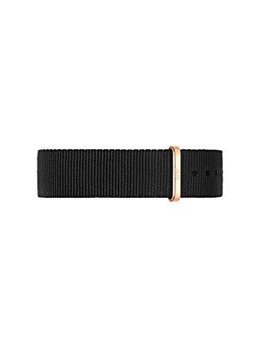Daniel Wellington Classic Cornwall - Correa para reloj (20 mm, OTAN), color negro y oro rosa