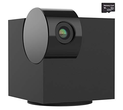 Heimkamera, Laxihub P1-Monitorkamera mit Zwei-Wege-Audio und -Video, Nachtsicht, 1080p HD-Haustierkamera, 32G SD-Karte, Kompatibel mit Alexa