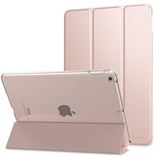 MoKo Custodia Protettiva Compatibile con 2018/2017 iPad 9.7 6th/5th Generation, Case Leggero e Sottile, Semi-Trasparente, Auto Sveglia/Sonno, Cover - Rosa Rosa