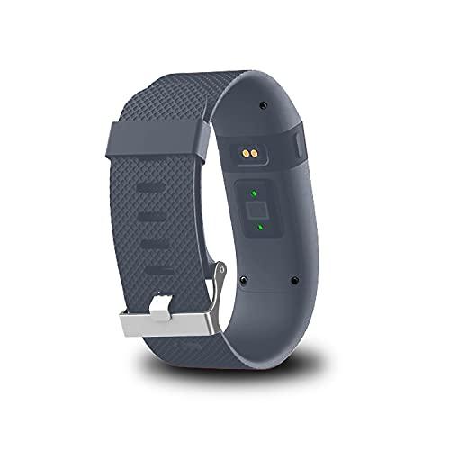 G-RF Bandas De Reloj para Fitbit Charge HR, TPE Dedicado Correa con Herramientas (S,Azul Gris)