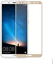 Jaorty Huawei Mate 10 Lite Full Cover Screen Protector,Full Coverage Tempered Glass 3D Round Edge 9H Hardness Anti-Scratch HD Clear Easy Installation for Huawei Nova 2i/Honor 9i(1 Pack,Gold)