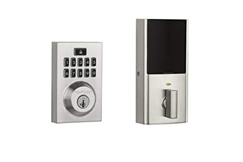 Kwikset 99140-019 SmartCode 914 Modern Contemporary Smart Lock Keypad Electronic Deadbolt With SmartKey Security and Z-Wave Plus, Satin Nickel