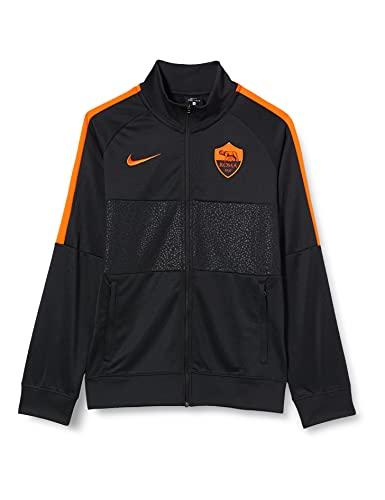 Nike Roma YNK I96 Anthem TRK Jkt CL, Giacca Sportiva Unisex Bambini, Black/Black/Safety Orange/(Safety Orange) (No spon-3rd), S