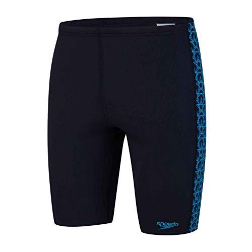 Speedo, Boom Jammer - Costume da Nuoto Uomo, Asciugatura Rapida, Costume da Bagno, Colore Blu Navy/Corallo, Taglia 48
