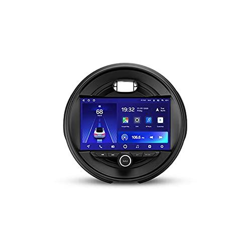 Radio 2 DIN Con 9'' Screen Android 10 Bluetooth Carplay Para BMW Mini 2014-2020,Soporte 5G Wifi Mandos De Volante Cámara Trasera 3D Dinámica De Conducción En Tiempo Real Enlace Espejo,Cc2l,1+16G