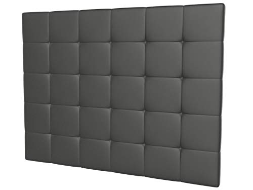 LA WEB DEL COLCHON - Cabecero tapizado Celio para Cama de 150 (160 x 120 cms) Gris Ceniza