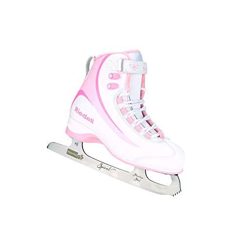 Riedell Skates - Soar Youth Ice Skates - Recreational Soft Beginner Figure Ice Skates | Pink | Size 12 JR