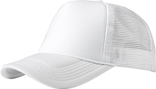 MSTRDS Herren Trucker high Profile Baseball Cap, Weiß (white 1023,1734), One size