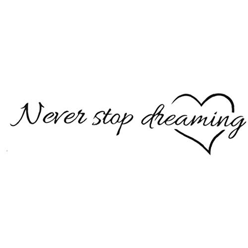 EElabper Etiqueta De La Pared Never Stop Dreaming Etiqueta De La Pared Removible Etiqueta Imagen De Pared Decoración Habitación Sala Contexto del Sofá De Etiqueta De La Pared