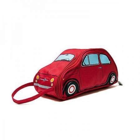 Maxidiscount Kulturbeutel für Auto Fiat 500, offizielles Lizenzprodukt, 3 Farben