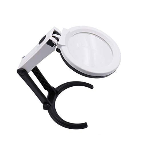 Ioouooi Faltbare Lupe mit 10 LED-Lichtern, 2X / 5X-Lupe mit Glaslinse für Bücher Schmuck Zeitung Kleine Drucke