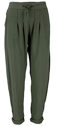 GURU SHOP Schmale Hose, Bleistifthose, Sommerhose, Damen, Olivgrün, Synthetisch, Size:M/L (38), Lange Hosen Alternative Bekleidung