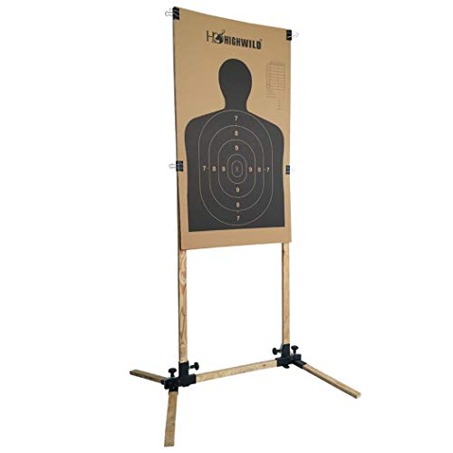 Highwild Adjustable Target Stand Base for Paper SHighwild Adjustable Target Stand Base for Paper Shooting Targets Cardboard Silhouette - USPSA/IPSC - IDPA Practice (1 Set)