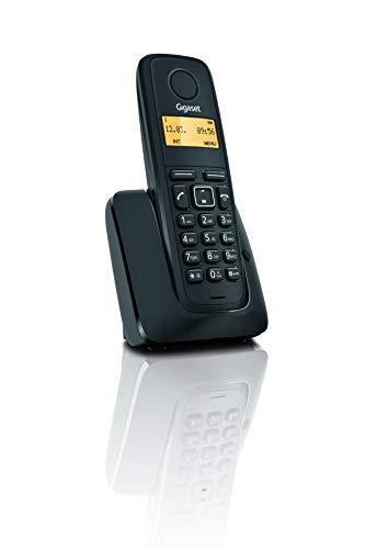 Gigaset A120 - Teléfono Inalámbrico, Agenda de 50 Contactos, Pantalla Iluminada, Color Negro