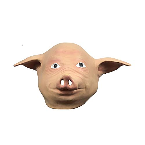 ZHANGXIAOYU Juego de Halloween máscara Mascarada máscara de Cerdo Divertido Animal Lindo Tocado Muestran Fiesta apoyos