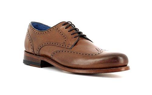 Gordon & Bros Herrenschuhe Levet 5428 Klassischer rahmengenähter Schnürhalbschuh mit Oxford Schnürung im Brogue Stil für Anzug, Business und Freizeit Braun (Torino midbrown Leather), EU 44