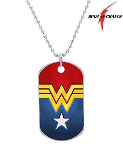 SPOT-IT Crafts Wonder Woman Logo Superwoman Logo - Stylish Dog Tag Pendant Necklace Includes 27