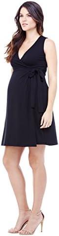 Ingrid Isabel Women s Maternity Sleeveless Wrap Dress Jet Black Large product image