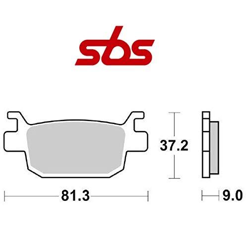 Compatible con Honda SH i (JF68B) 125 2017-2020. Pastilla de freno trasera SBS 193HM. Mezcla orgánica 656193HM. Par de pastillas de freno para moto scooter específica + regalo