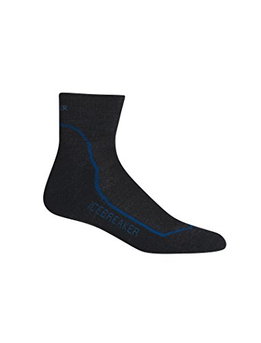 Icebreaker Herren Wandersocken Hike plus Light Mini Socke, Jet HTHR/Cadet/Black, L