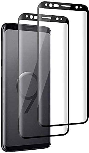 Verre Trempé Galaxy S9, [Lot de 3] Film Protection en Verre trempé écran Protecteur Vitre pour Samsung Galaxy S9 Anti Rayures,Ultra Résistant Dureté 9H Glass Screen Protector