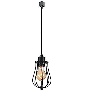 KIVEN 1-Light H-Type 3 Wire Track Light Pendants Length 3.3 feet Restaurant Chandelier Decorative Chandelier Instant Pendant Light