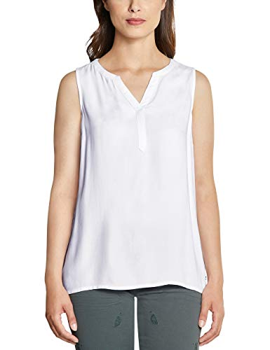 Cecil Damen 341543 Bluse, White, Large (Herstellergröße:L)