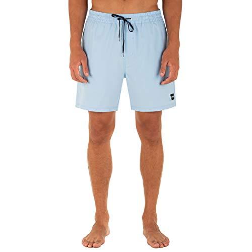 Hurley One and Only - Pantalón Corto para Tabla de Voleibol (43 cm), Azul psíquico, Small