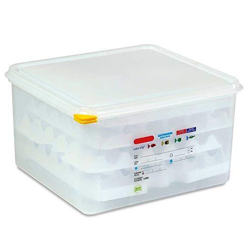 Eierbox/Transportbox, Polypropylen-Kunststoff (PE-HD), LxBxH 354x325x200 mm, Behälter im Gastronorm-Maß GN 2/3