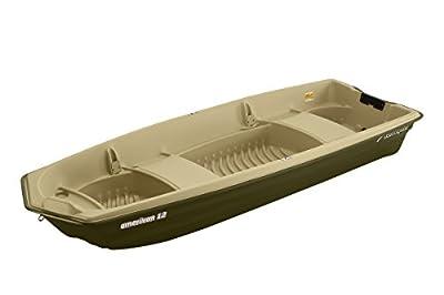 11010 Sun Dolphin American 12 Jon Fishing Boat (Beige/Green, 12-Feet) from KL Industries