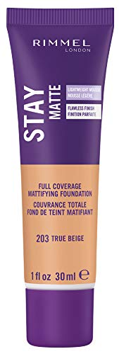 Rimmel Stay Matte Foundation, True Beige, 1 Fluid Ounce