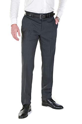 NGB NGB Herren Anzughose Hose mit Bügelfalte - Regular Fit untersetzte Größe - Grau 23