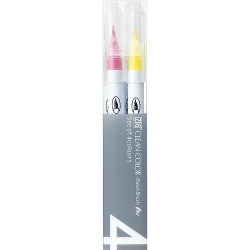 Zig Nettoyer Couleur Vraie Brosse marqueurs 4/Pkg-Pure