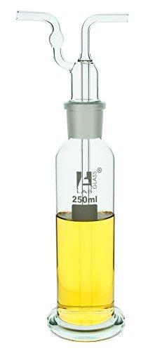 Dreschel - Botella de lavado a gas (250 ml, cabeza articulada, B29)