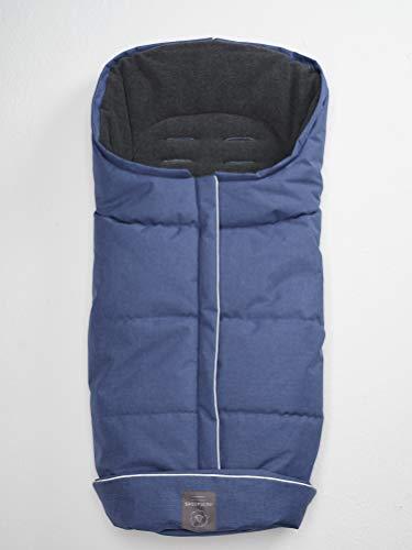 Naturally Sheepskins Kinderwagen Fußsack, wetterfest, Fleece, Linear blau/grau, Größe universal
