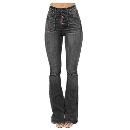 Bell Bottom Jeans De Cintura Alta Denim Flared Pantalones Es