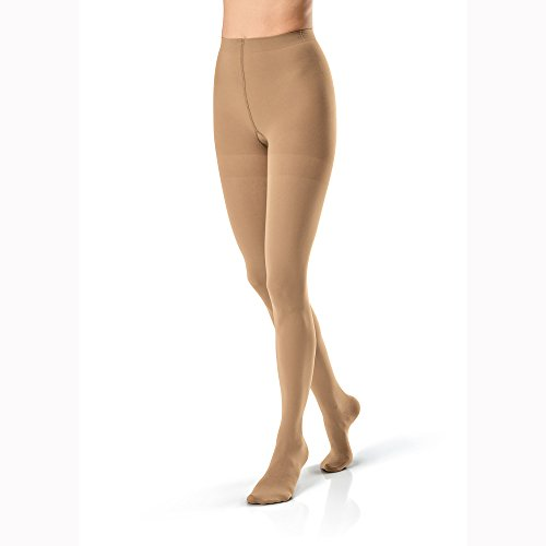 Big Sale Jobst Opaque Pantyhose 30-40 mmHg Extra Firm Support Classic Black Large - 115194