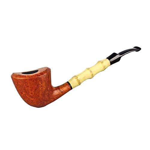 STBAAS Pipa, Tabaco de Madera Larga Fumadores identificador de canalización de la Lectura Larga Cubo Briar Madera de bambú Curva Tabaco de Pipa