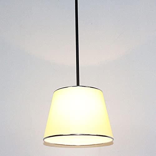 NAMFHZW E27 1 luz Tambor Pantalla de tela Mini lámpara colgante colgante colgante colgante con cordón ajustable interruptor de encendido/apagado para dormitorio, mostrador de bar, mesa de comedor