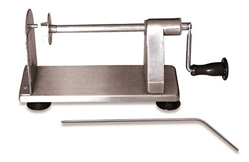 Cortador de patatas en espiral Tornado-Crisp Cutter, acero inoxidable de alta calidad, barra de extracción manual, base de succión, 22 x 10 x 13 cm