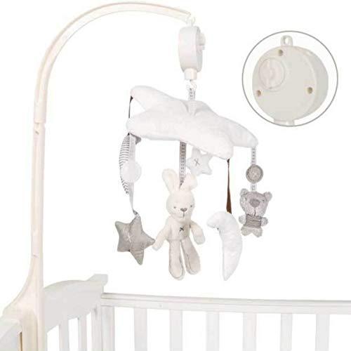 Gojiny Elegant Plush Toy for Cot Pram Crib Stroller, Baby Musical Cot Mobile Crib Hanging Musical Plush Toy for Newborn Infant Toddler