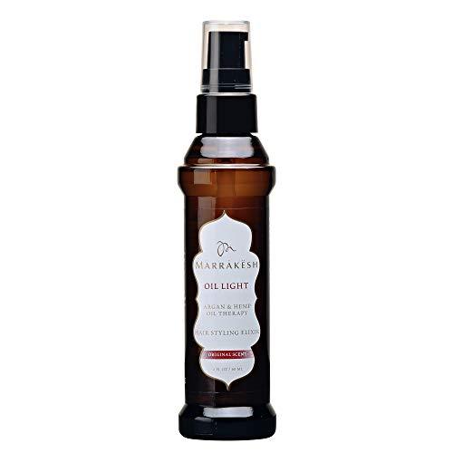 EARTHLY BODY by Marrakesh Hair Styling Elixir Oil for Fine Hair, Light, 2 Ounce