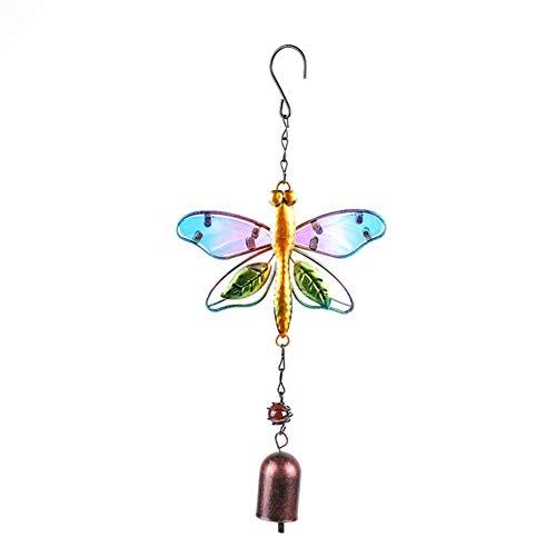 Leezo Campanas de viento al aire libre, campanillas de viento colibrí, adornos colgantes hechos a mano para decoración de fiesta para jardín, patio, terraza, patio
