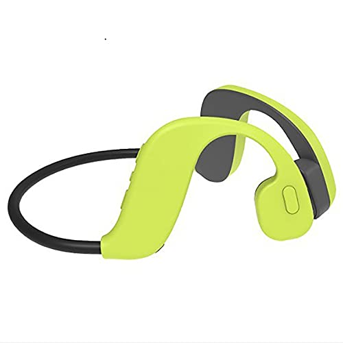 IKXO Wireless Bluetooth Bone Conduction Headphones Swimming Waterproof IP68 32G MP3 Player Open-Ear Sport Noise Cancellation Comfortable Sweat Proof for Fitness Swimming Running Driving Green