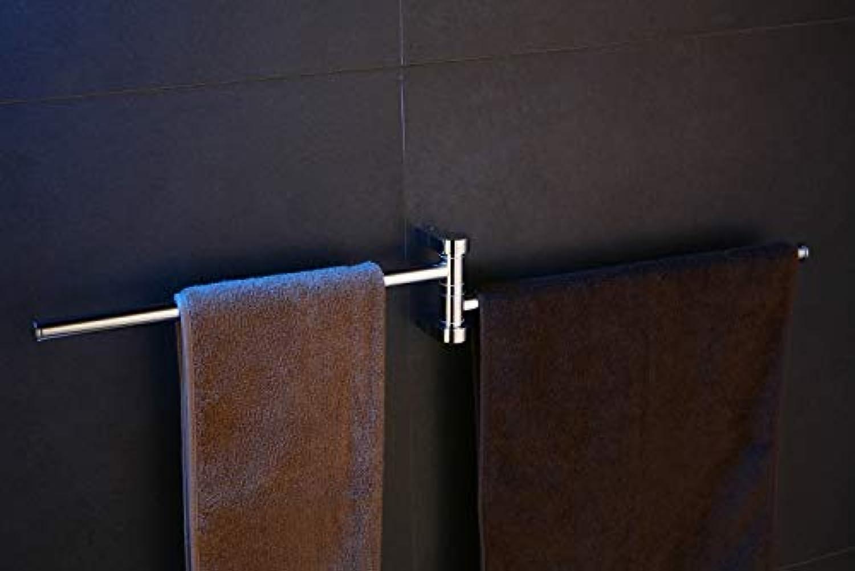 blueewater DOR-97025 Chromed Towel Rack with Double Arm, Grey