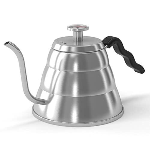 Coffee Gator Gooseneck Kettle - 34oz Stainless-Steel, Stove Top...